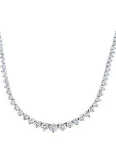 Badgley Mischka 14K White Gold & 6 TCW Lab-Grown Diamond Tennis Necklace