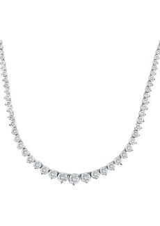 Badgley Mischka 14K White Gold & 9.50 TCW Lab-Grown Diamond Tennis Necklace