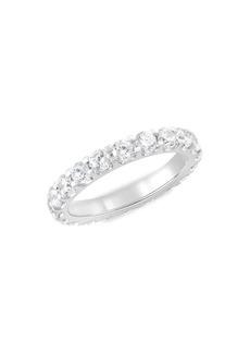 Badgley Mischka 14K White Gold, Rhodium Plated & 2 TCW Lab-Grown Diamond Eternity Ring/Size 6