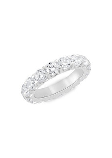 Badgley Mischka 14K White Gold, Rhodium Plated & 4 TCW Lab-Grown Diamond Eternity Ring/Size 6