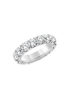 Badgley Mischka 14K White Gold, Rhodium Plated & 5 TCW Lab-Grown Diamond Eternity Ring/Size 6