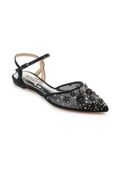 Badgley Mischka Collection Carissa Embroidered Pointed Toe Flat (Women)