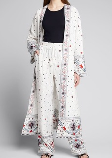 Badgley Mischka Collection Combo-Print Pull-On Pants