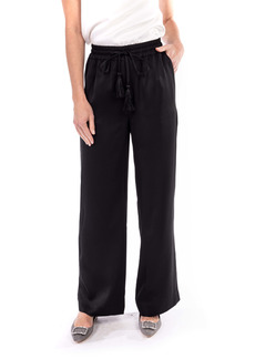 Badgley Mischka Collection Drawstring Satin Pants