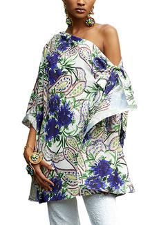 Badgley Mischka Collection Floral One-Shoulder Top