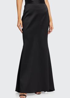 Badgley Mischka Collection Long Mikado Fishtail Skirt