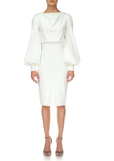 Badgley Mischka Collection Odessa Long Sleeve Cocktail Dress