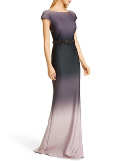 Badgley Mischka Collection Embellished Ombré Gown