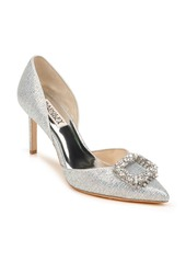 Badgley Mischka Collection Gaiana Crystal Embellished Pointed Toe d'Orsay Pump (Women)