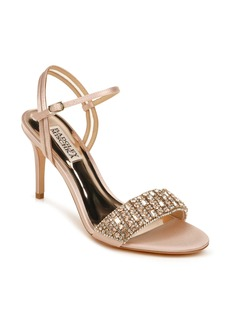 Badgley Mischka Collection Garan Crystal Embellished Satin Sandal (Women)