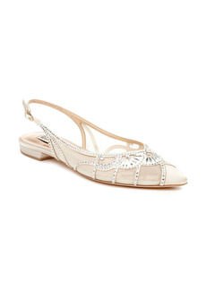 Badgley Mischka Collection Hanna Embellished Slingback Flat (Women)