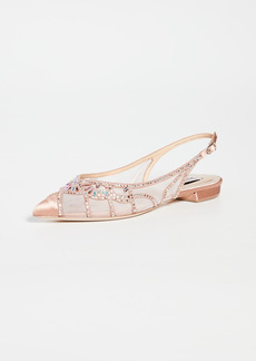 Badgley Mischka Hannah Point Toe Skimmers Flats