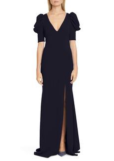Badgley Mischka Collection Odessa Puff Sleeve Gown