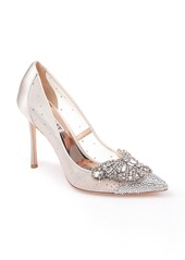 Badgley Mischka Collection Quintana Crystal Embellished Pointed Toe Pump (Women)
