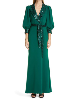 Badgley Mischka Collection Sequin Accent Gown