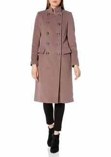 Badgley Mischka Women's Oversized Wool Cocoon Coat  XS