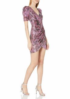 Badgley Mischka Women's Tight Body Con Sequin Wrap