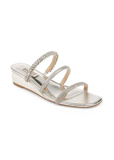Badgley Mischka Zofia Strappy Wedge Slide Sandal (Women)