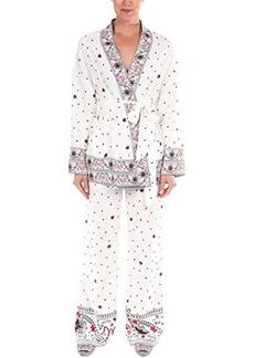 Badgley Mischka Bon Voyage Boarder Print Kimono