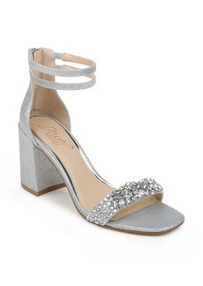 Jewel Badgley Mischka Natala Ankle Strap Sandal (Women)