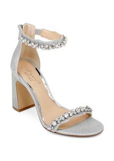 Jewel Badgley Mischka Odessa Crystal Block Heel Sandal (Women)