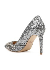 Jewel Badgley Mischka Ulyana Crystal Glitter Pump (Women)