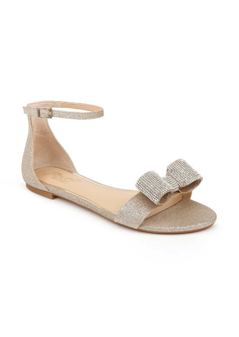 Jewel Badgley Mischka Una Flat Sandal (Women)