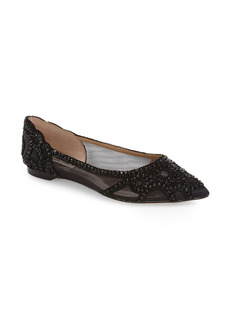 Women's Badgley Mischka Collection Gigi Crystal Pointed Toe Flat