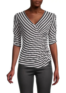 Bailey 44 Adele Striped Ruched Top
