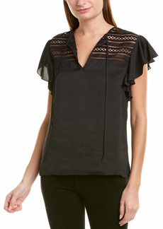 Bailey 44 Women's Trance Top with lace Inset Detail  X Small