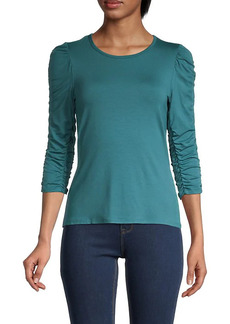 Bailey 44 Inna Ruched-Sleeve Top