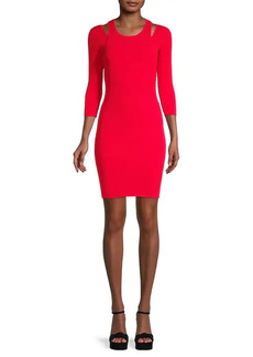 Bailey 44 Ribbed Cut-Out Sweater Dress