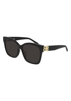Balenciaga 57mm Square Sunglasses