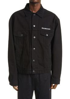 Balenciaga All Black Denim Jacket
