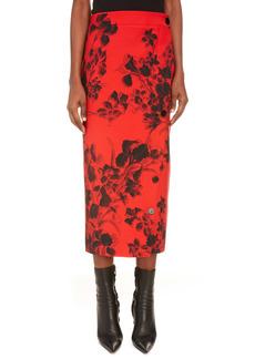 Balenciaga Button Slit Midi Skirt
