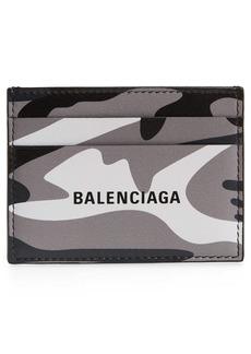 Balenciaga Camo Leather Card Holder