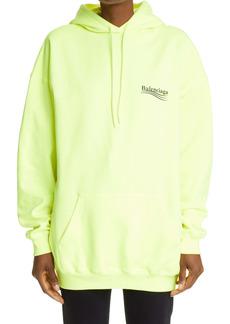 Balenciaga Campaign Logo Oversize Cotton Hoodie