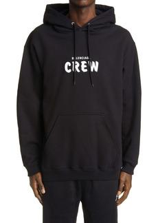 Balenciaga Crew Oversize Men's Graphic Hoodie