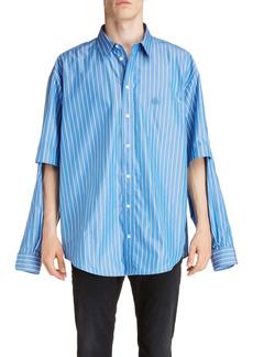 Balenciaga Double Sleeve Button-Down Shirt