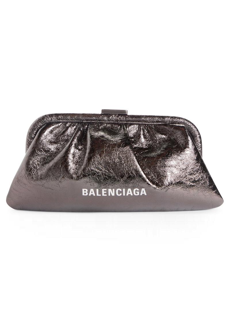 Balenciaga Extra Small Cloud Metallic Leather Clutch