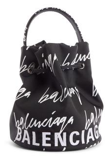 Balenciaga Extra Small Wheel Logo Bucket Bag