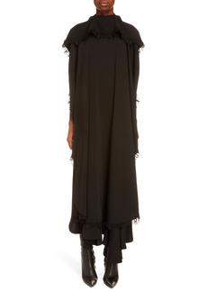 Balenciaga Lace Trim Asymmetrical Circle Dress