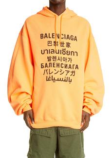 Balenciaga Languages Oversize Men's Hoodie