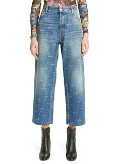 Balenciaga License Logo Organic Cotton Crop Jeans