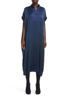 Balenciaga Logo Silk Jacquard Shirtdress