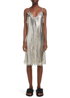 Balenciaga Mesh Metal Slipdress