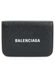 Balenciaga Mini Cash Logo Leather Wallet