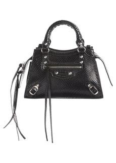 Balenciaga Mini Neo Classic City Snake Embossed Leather Top Handle Bag