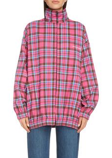 Balenciaga Oversize Check Flannel Jacket