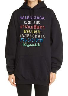 Balenciaga Oversize Logo Hoodie